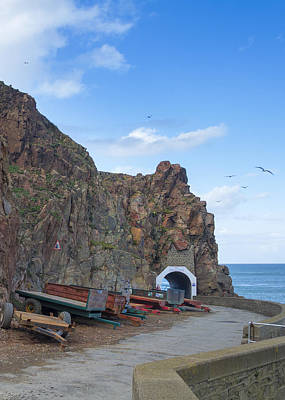 Coastal Scene On Sark Poster by Chris Smith