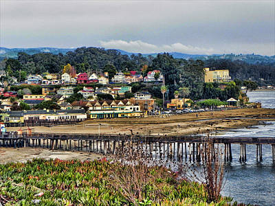 Poster featuring the photograph California Coastal Town by Kathy Churchman