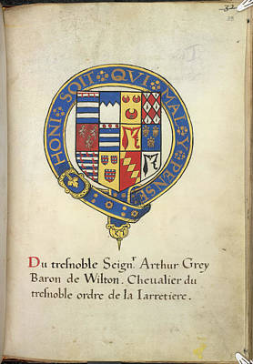 Coat Of Arms Of Arthur Grey Poster by British Library
