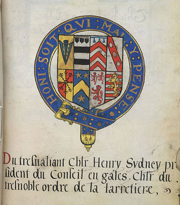 Coat Of Arms Of Sir Henry Sydney Poster by British Library