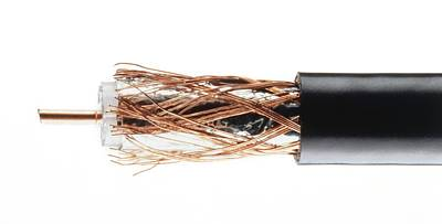 Coaxial Cable With Wires Exposed Poster