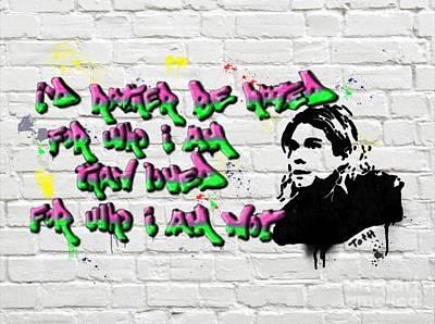 Cobain Graffiti Poster