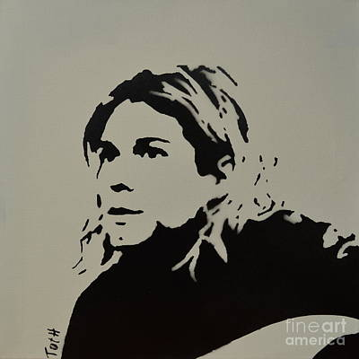 Cobain Spray Art Poster