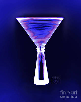 Cobalt With Purple Fringe Martini Poster
