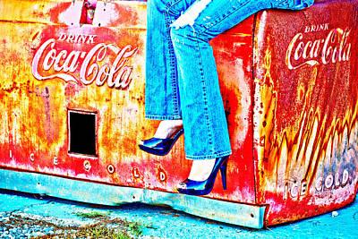 Coca-cola And Stiletto Heels Poster