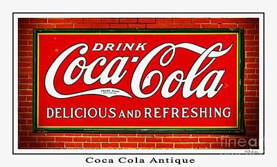 Coca Cola Antique Poster