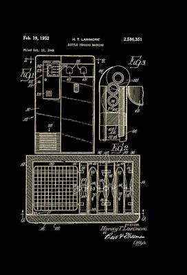 Coca Cola Bottle Vending Machine Patent 1952 Poster