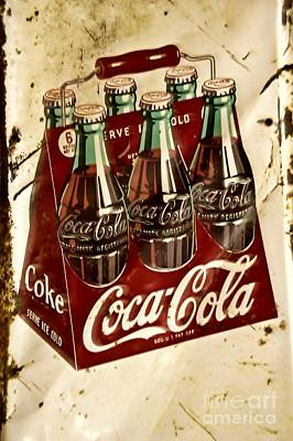 Coca Cola Rusty Old Sign Poster by JW Hanley