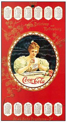 Coca - Cola Vintage Poster Calendar Poster by Gianfranco Weiss