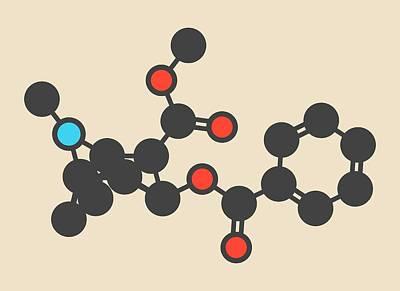 Cocaine Stimulant Drug Molecule Poster by Molekuul