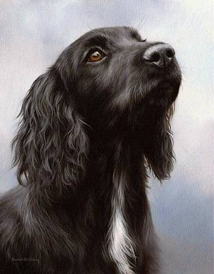 Cocker Spaniel Painting Poster by Rachel Stribbling
