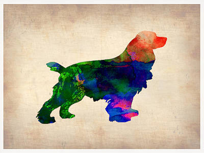 Cocker Spaniel Watercolor Poster by Naxart Studio