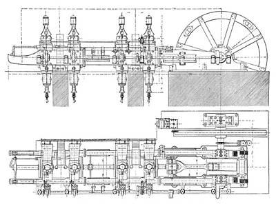 Cockerill Gas Engine Poster