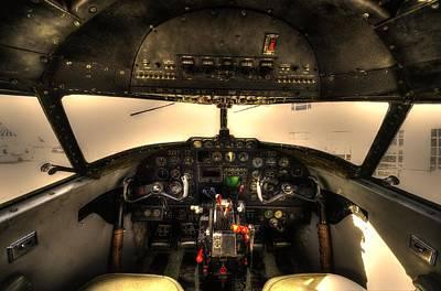 Cockpit - Lockheed Model 18 Lodestar Poster