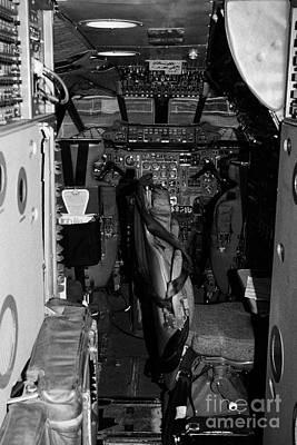 cockpit of the British Airways Concorde exhibit at the Intrepid Sea Air Space Museum Poster