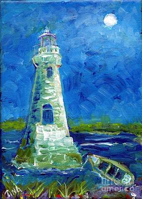Poster featuring the painting Cockspur Lighthouse Mini #7 by Doris Blessington
