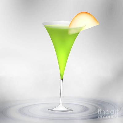 Cocktail Apple Green Poster by Regina Koch