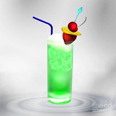 Cocktail Green Fruit Poster by Regina Koch