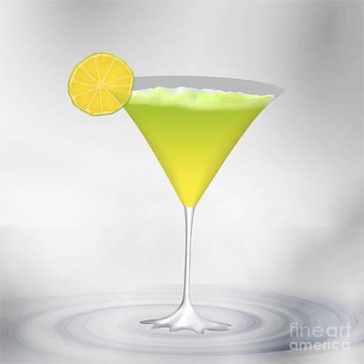 Cocktail Lemon Poster by Regina Koch