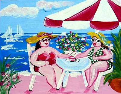 Cocktails On The Beach Poster