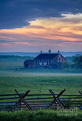 Codori Farm And Gettysburg Battlefield Poster by John Greim