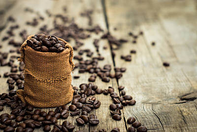 Coffee Beans Poster by Aged Pixel