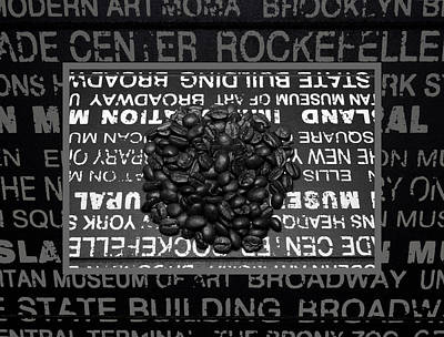 Coffee Beans In A Heap Poster by Tommytechno Sweden