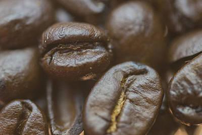 Coffee Beans Macro 2 Poster by David Haskett