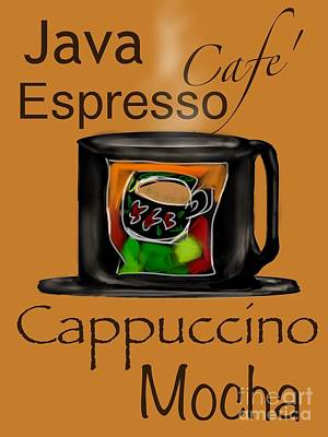 Coffee Break Poster by Christine Fournier