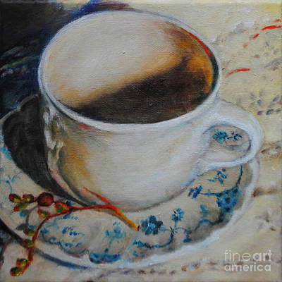 Coffee Cup 1 Poster by Toelle Hovan