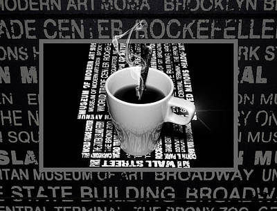 Coffee Cup With Spoon Poster by Tommytechno Sweden