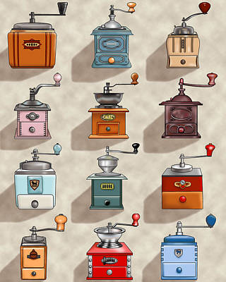 Coffee Grinder Wall Poster