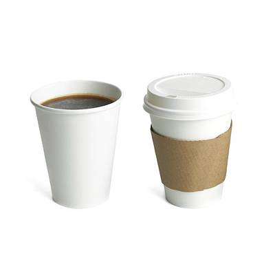 Coffee In Polystyrene And Paper Cups Poster