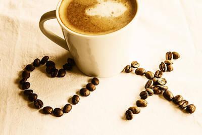 Coffee Love Poster by Georgia Fowler