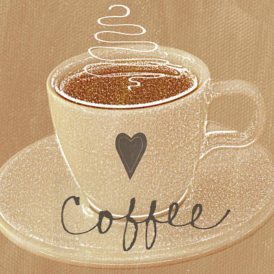 Coffee Love In Mocha Poster by Linda Woods