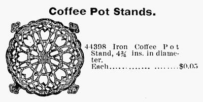 Coffee Pot Stand, 1895 Poster