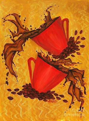 Coffee Splash Poster by KarishmaticArt -  Karishma Desai