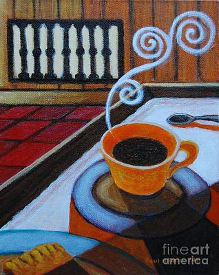 Coffee Study Triptych 1 Of 3 Poster by Paul Hilario