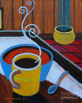 Coffee Study Triptych 3 Of 3 Poster by Paul Hilario
