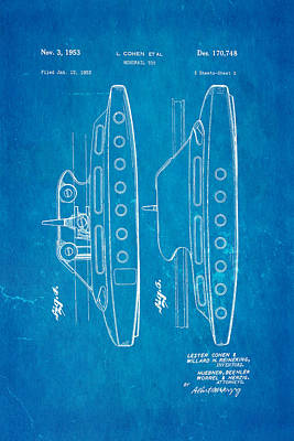 Cohen Monorail Toy 2 Patent Art 1953 Blueprint Poster