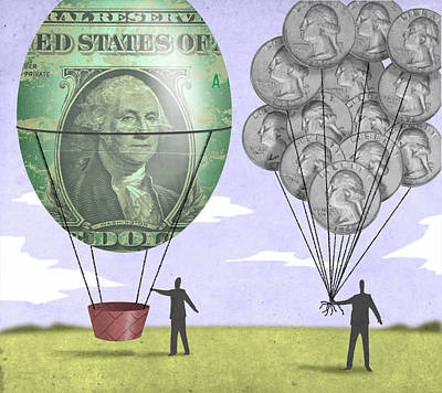 Coin Balloons Poster by Steve Dininno