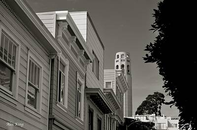 Poster featuring the photograph Coit Tower by Alex King
