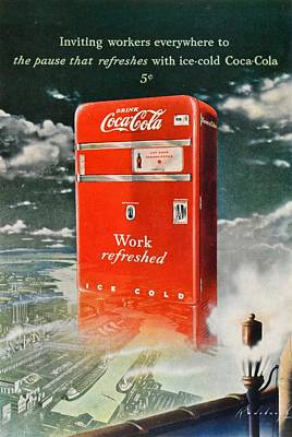 Coke - Coca Cola Vintage Advert Poster by Georgia Fowler
