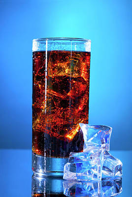Cola Drink In A Glass Poster by Wladimir Bulgar