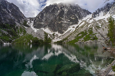 Colchuck Lake Clear Waters Poster by Mike Reid