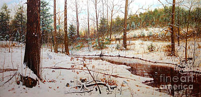 Poster featuring the painting Cold Creek Arkansas by Mike Ivey