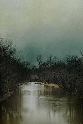 Cold Day At The River Poster by Jai Johnson