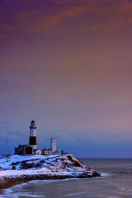 Cold Morning At Montauk Point Poster by Rick Berk