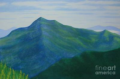 Poster featuring the painting Cold Mountain by Stacy C Bottoms