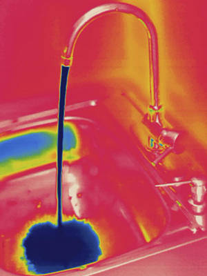 Cold Water Running, Thermogram Poster